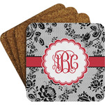Black Lace Coaster Set (Personalized)