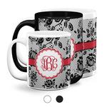 Black Lace Coffee Mugs (Personalized)