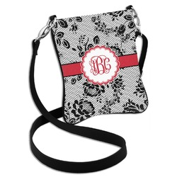 Black Lace Cross Body Bag - 2 Sizes (Personalized)