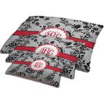 Black Lace Dog Bed w/ Monogram