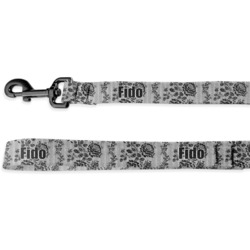 Black Lace Deluxe Dog Leash (Personalized)