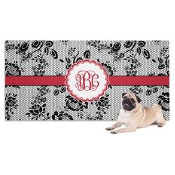 Black Lace Pet Towel (Personalized)