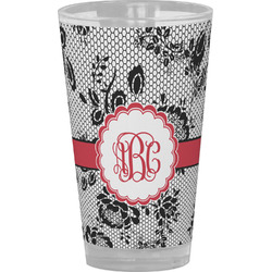 Black Lace Drinking / Pint Glass (Personalized)
