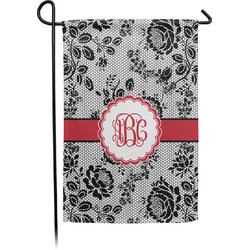 Black Lace Garden Flag - Single or Double Sided (Personalized)