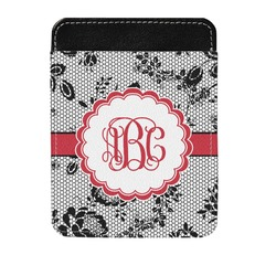 Black Lace Genuine Leather Money Clip (Personalized)