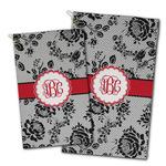 Black Lace Golf Towel - Full Print w/ Monogram
