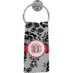 Black Lace Hand Towel - Full Print (Personalized)