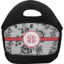 Black Lace Toddler Lunch Tote (Personalized)