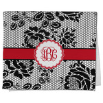 Black Lace Kitchen Towel - Full Print (Personalized)