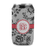 Black Lace Can Sleeve (12 oz) (Personalized)