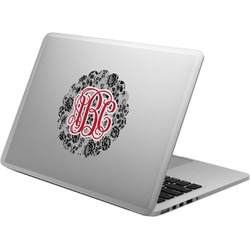 Black Lace Laptop Decal (Personalized)