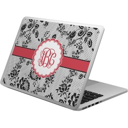 Black Lace Laptop Skin - Custom Sized (Personalized)