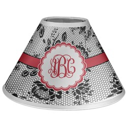 Black Lace Coolie Lamp Shade (Personalized)