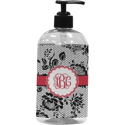Black Lace Plastic Soap / Lotion Dispenser (Personalized)