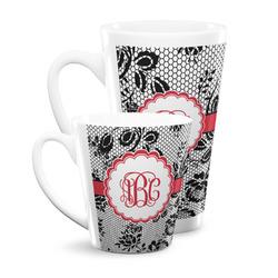 Black Lace Latte Mug (Personalized)