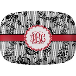 Black Lace Melamine Platter (Personalized)
