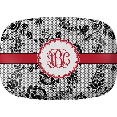 Black Lace Melamine Platter (Personalized)
