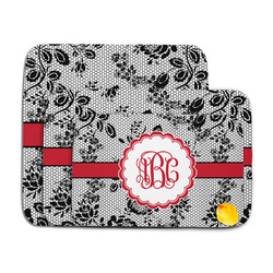 Black Lace Memory Foam Bath Mat (Personalized)