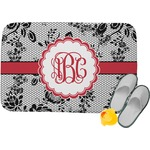 Black Lace Memory Foam Bath Mat (Personalized)