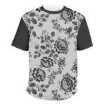 Black Lace Men's Crew T-Shirt (Personalized)