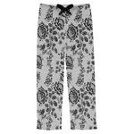 Black Lace Mens Pajama Pants (Personalized)