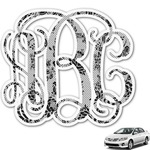 Black Lace Monogram Car Decal (Personalized)