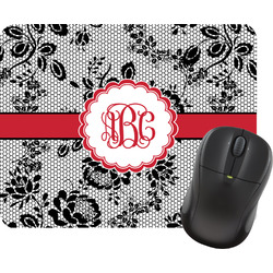 Black Lace Rectangular Mouse Pad (Personalized)