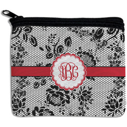 Black Lace Rectangular Coin Purse (Personalized)