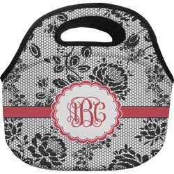 Black Lace Lunch Bag (Personalized)
