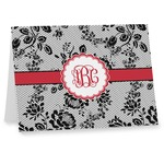 Black Lace Note cards (Personalized)