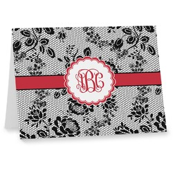 Black Lace Notecards (Personalized)