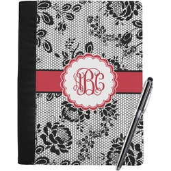 Black Lace Notebook Padfolio (Personalized)