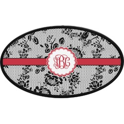Black Lace Oval Trailer Hitch Cover (Personalized)