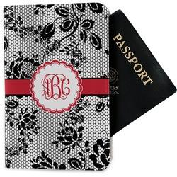 Black Lace Passport Holder - Fabric (Personalized)