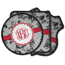Black Lace Iron on Patches (Personalized)