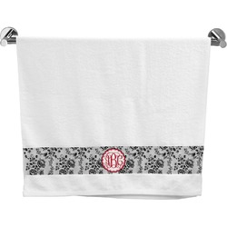 Black Lace Bath Towel (Personalized)