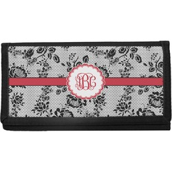 Black Lace Canvas Checkbook Cover (Personalized)