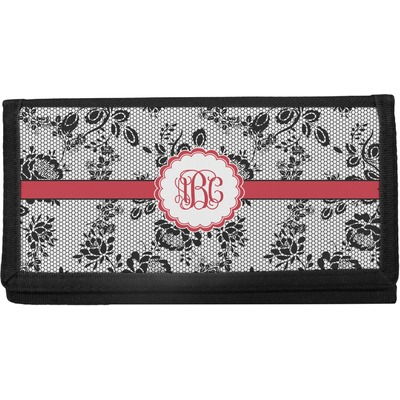 Black Lace Canvas Checkbook Cover (Personalized)