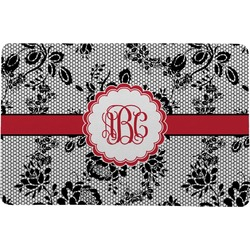 Black Lace Comfort Mat (Personalized)