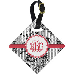 Black Lace Diamond Luggage Tag (Personalized)