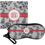 Black Lace Eyeglass Case & Cloth (Personalized)