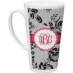 Black Lace Latte Mug (Personalized)