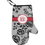 Black Lace Oven Mitt (Personalized)