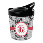 Black Lace Plastic Ice Bucket (Personalized)