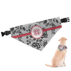 Black Lace Dog Bandana (Personalized)