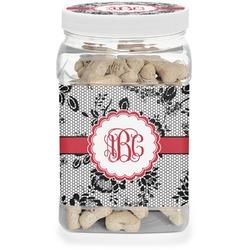 Black Lace Dog Treat Jar (Personalized)