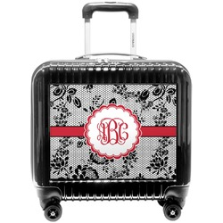 Black Lace Pilot / Flight Suitcase (Personalized)