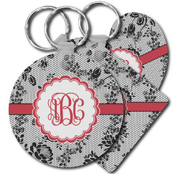 Black Lace Plastic Keychains (Personalized)