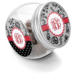 Black Lace Puppy Treat Jar (Personalized)