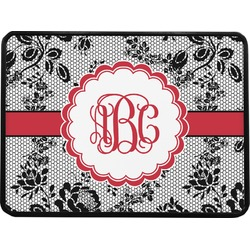 Black Lace Rectangular Trailer Hitch Cover (Personalized)